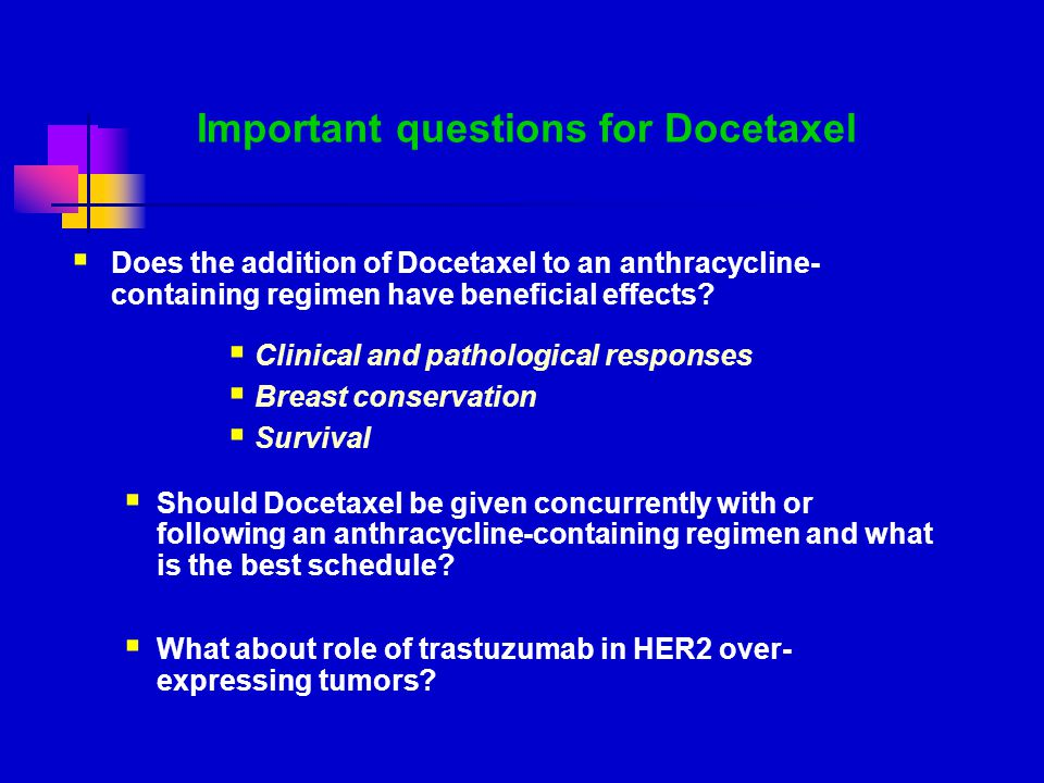 Important questions for Docetaxel