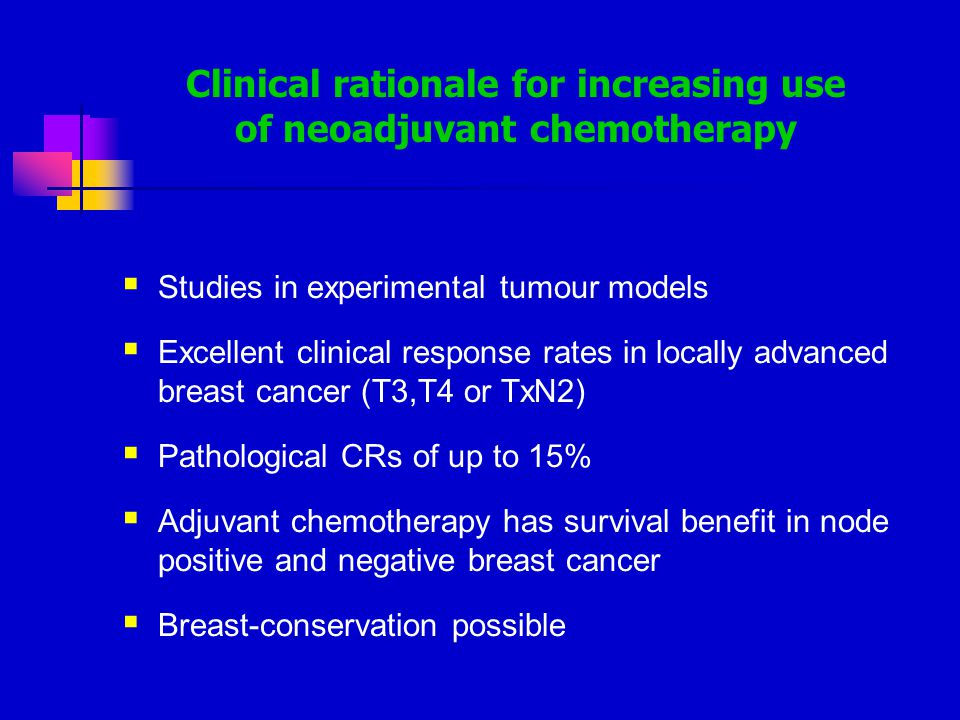 Clinical rationale for increasing use of neoadjuvant chemotherapy