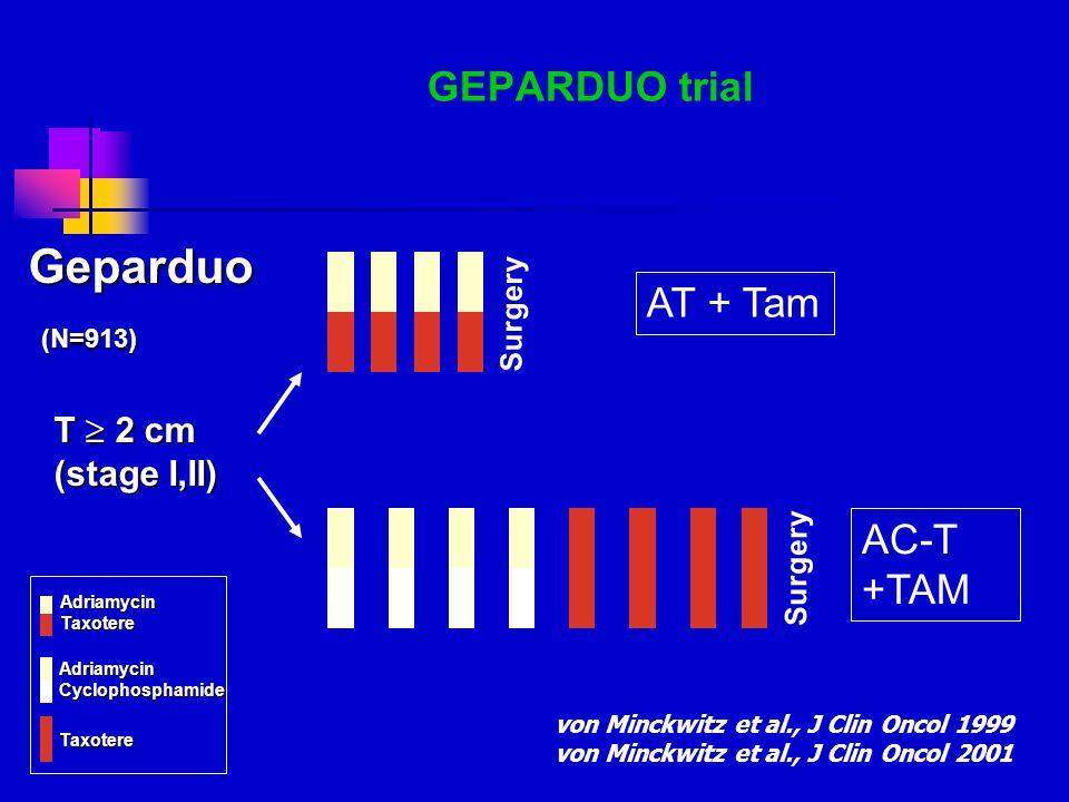 Geparduo GEPARDUO trial AT + Tam AC-T +TAM T  2 cm (stage I,II)