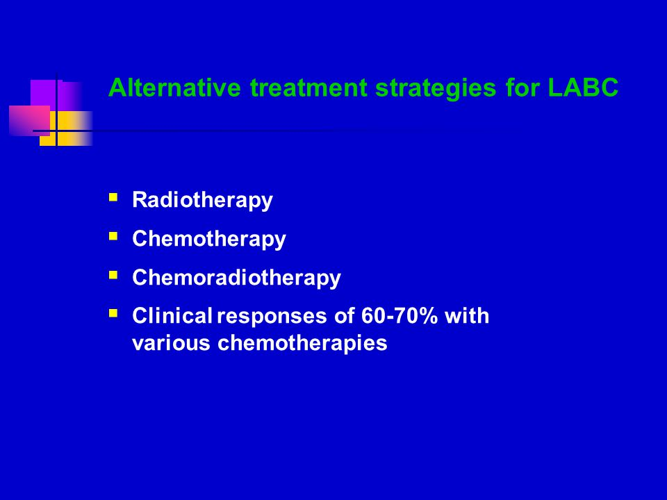 Alternative treatment strategies for LABC
