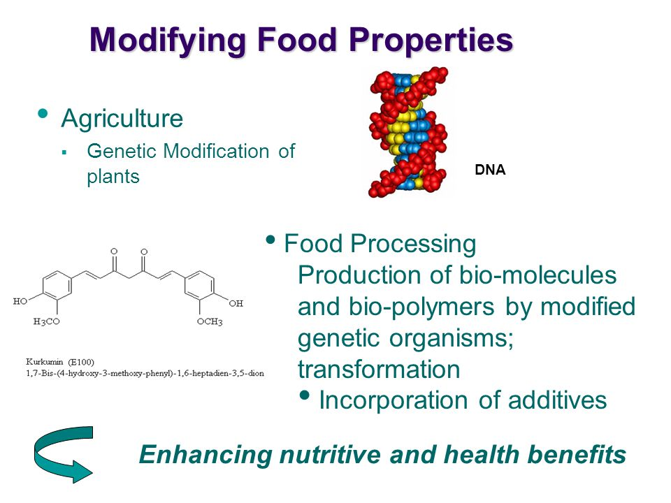 Modifying Food Properties