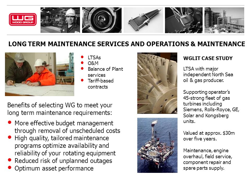 LONG TERM MAINTENANCE SERVICES AND OPERATIONS & MAINTENANCE
