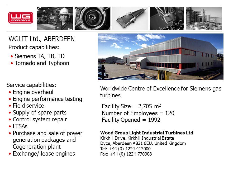 WGLIT Ltd., ABERDEEN Product capabilities: Siemens TA, TB, TD