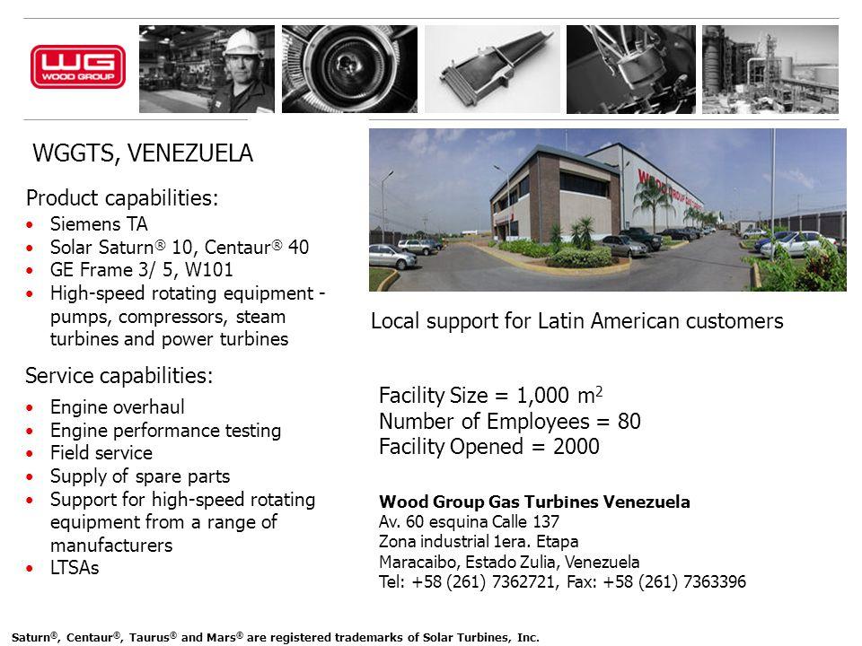 WGGTS, VENEZUELA Product capabilities: