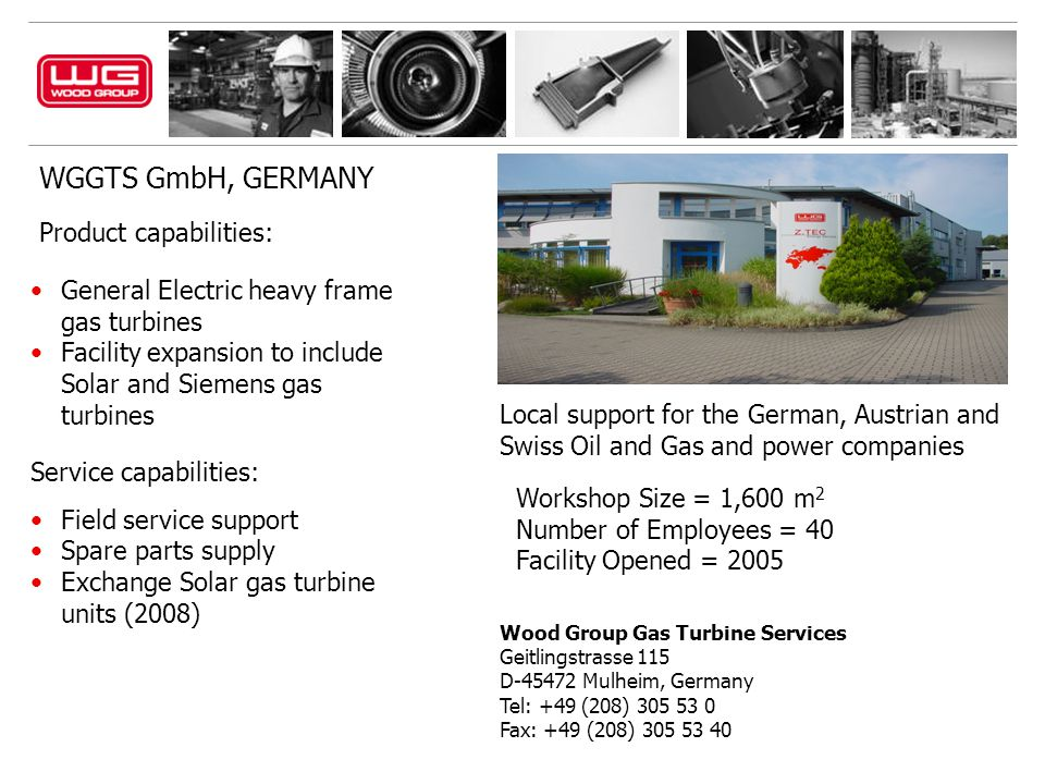WGGTS GmbH, GERMANY Product capabilities: