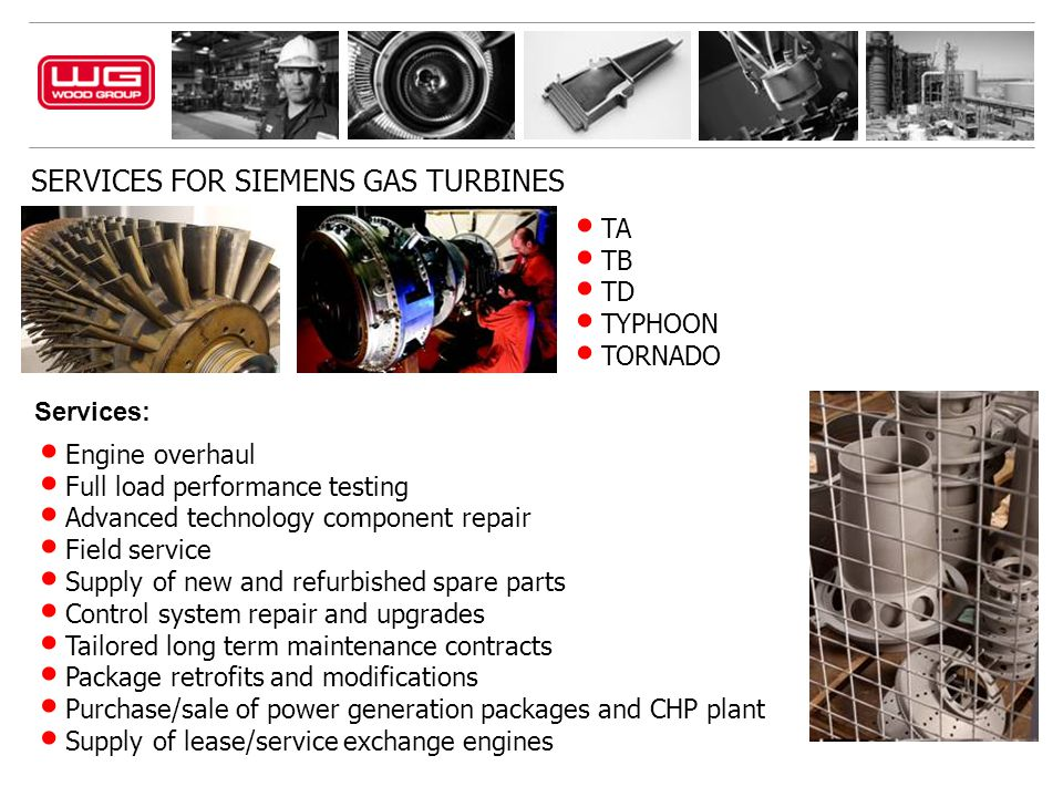 SERVICES FOR SIEMENS GAS TURBINES