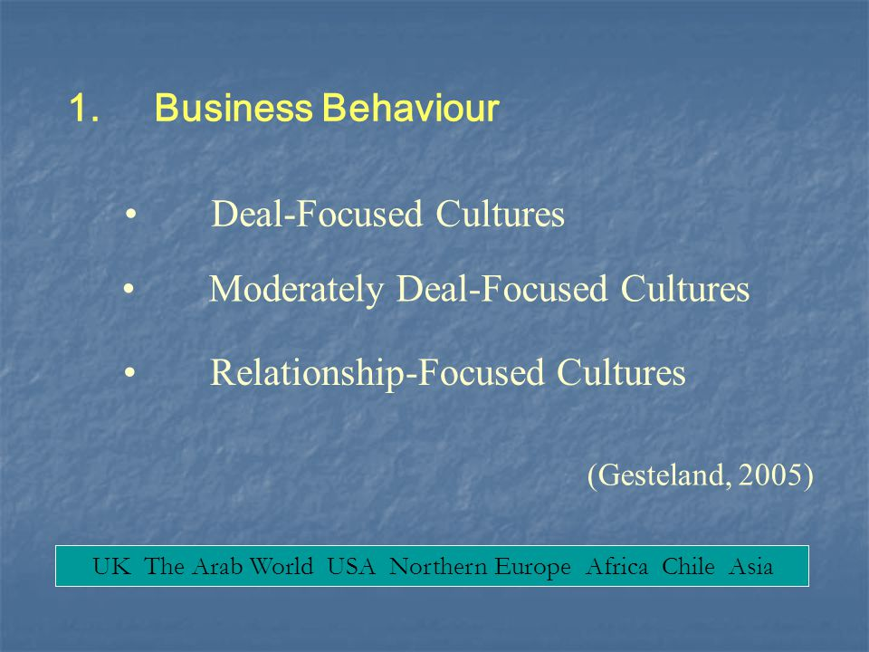Deal-Focused Cultures
