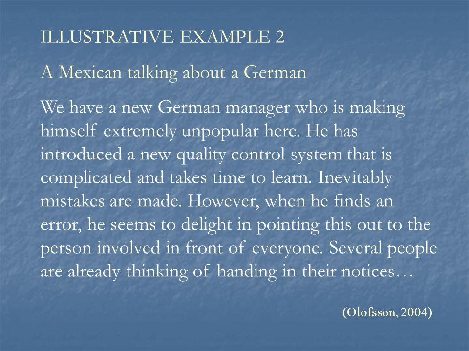 A Mexican talking about a German