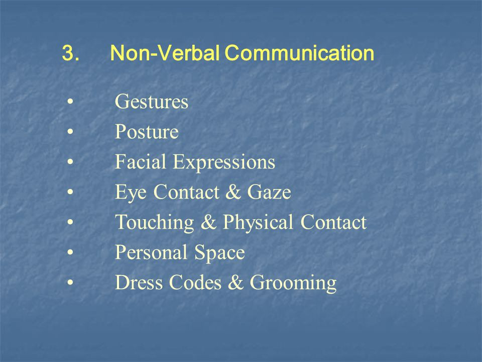 3. Non-Verbal Communication