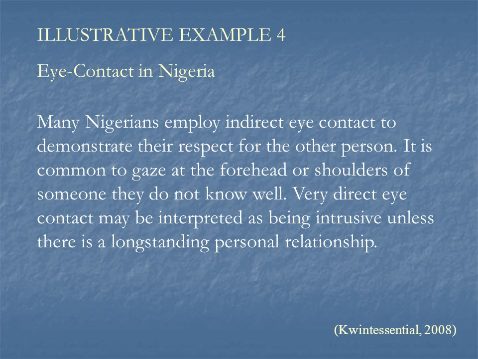 Eye-Contact in Nigeria