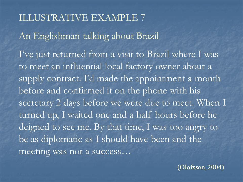 An Englishman talking about Brazil