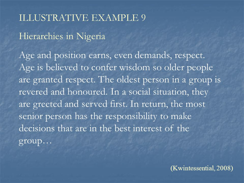 Hierarchies in Nigeria