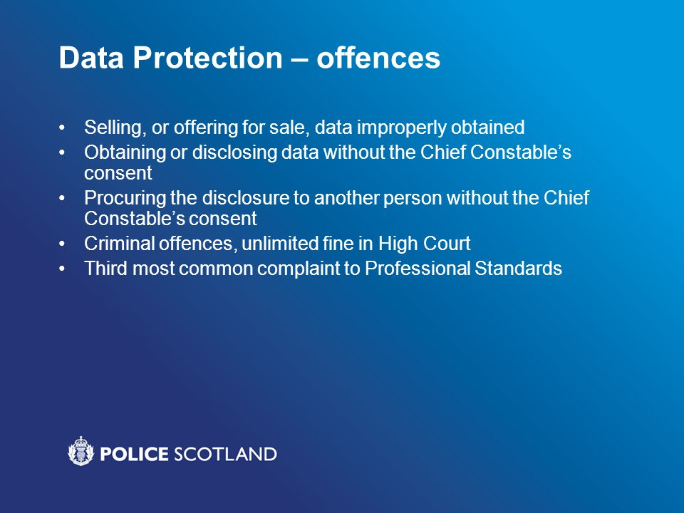Data Protection – offences