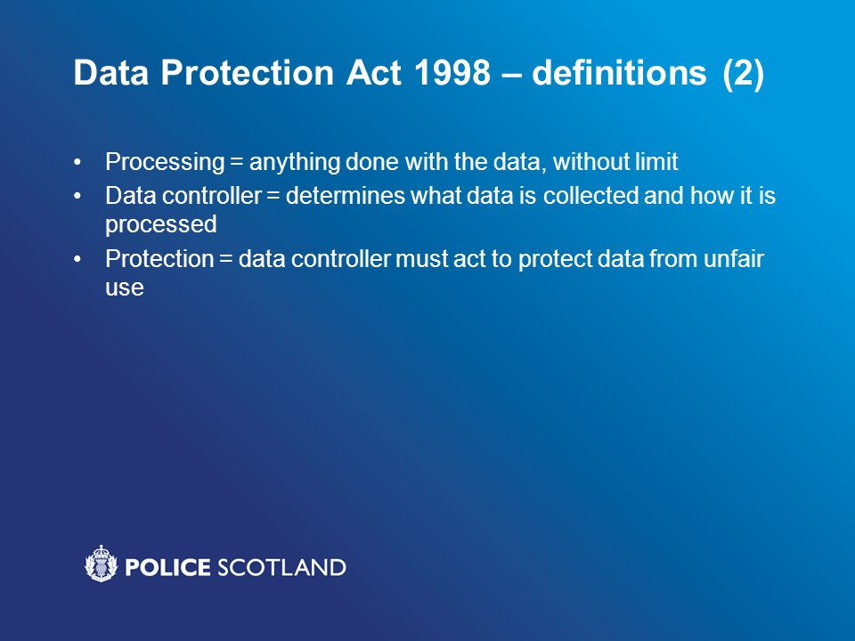 Data Protection Act 1998 – definitions (2)