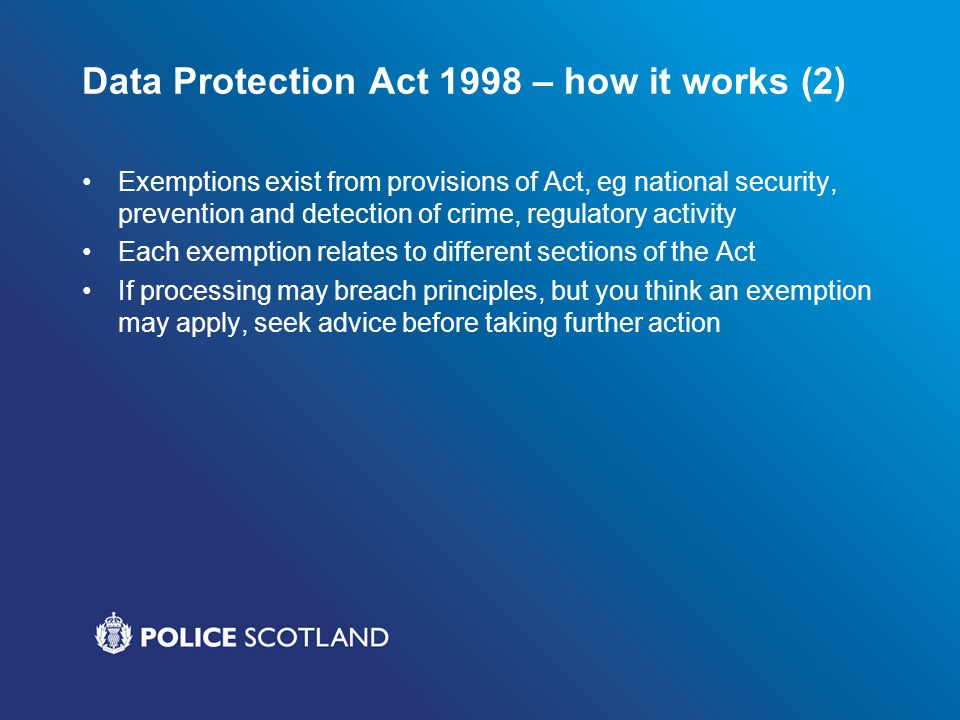 Data Protection Act 1998 – how it works (2)