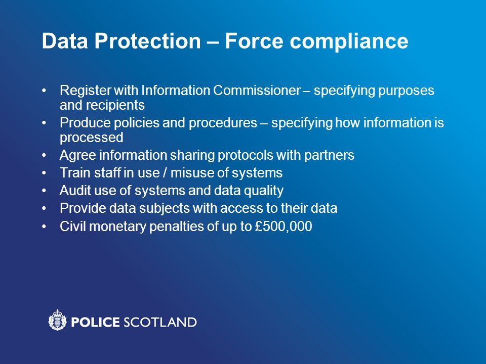 Data Protection – Force compliance