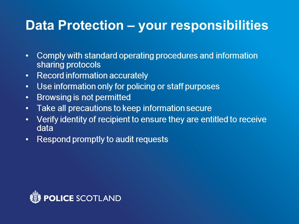 Data Protection – your responsibilities