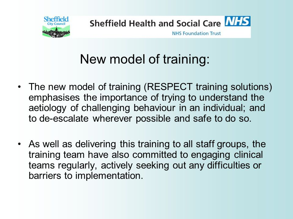 New model of training:
