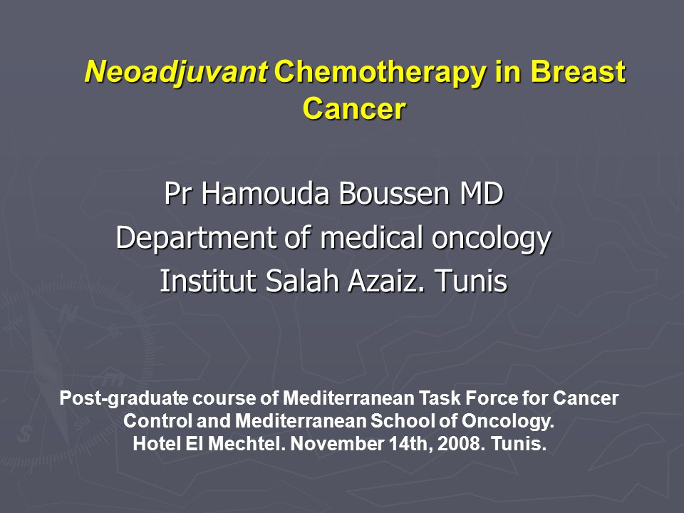 Neoadjuvant Chemotherapy in Breast Cancer