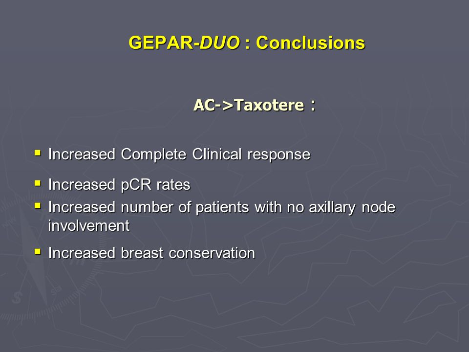 GEPAR-DUO : Conclusions