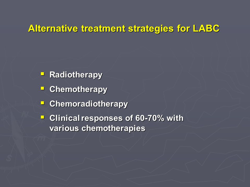 Alternative treatment strategies for LABC