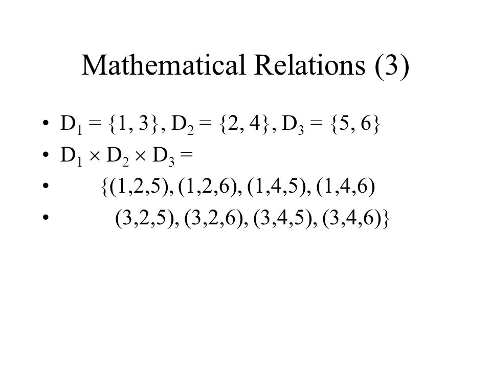Mathematical Relations (3)