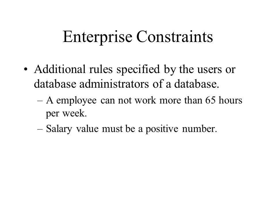Enterprise Constraints