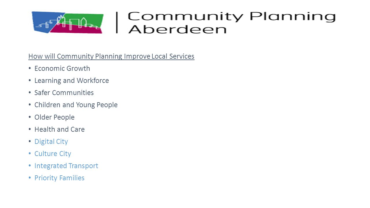 How will Community Planning Improve Local Services