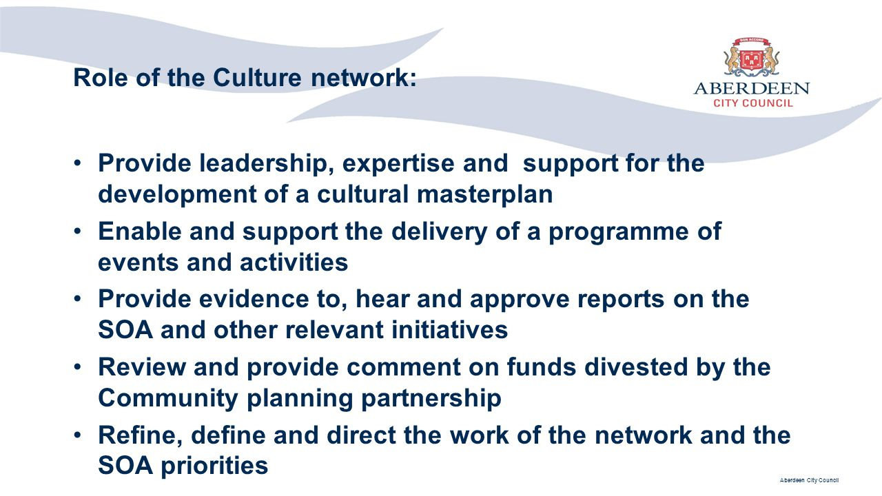 Role of the Culture network: