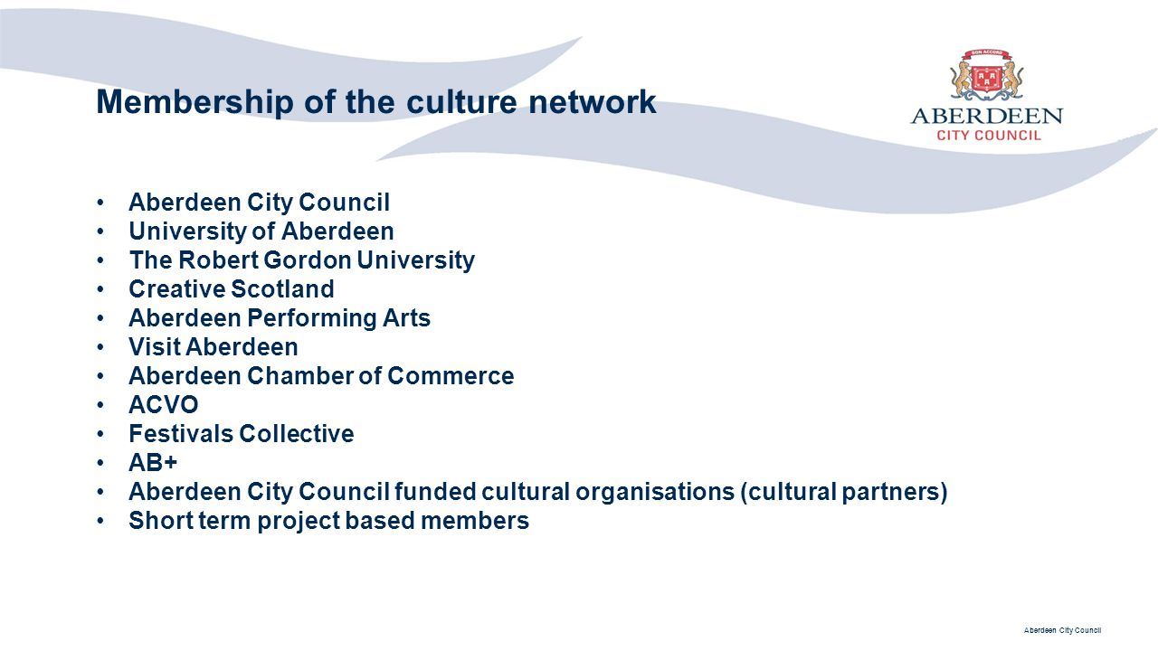 Membership of the culture network