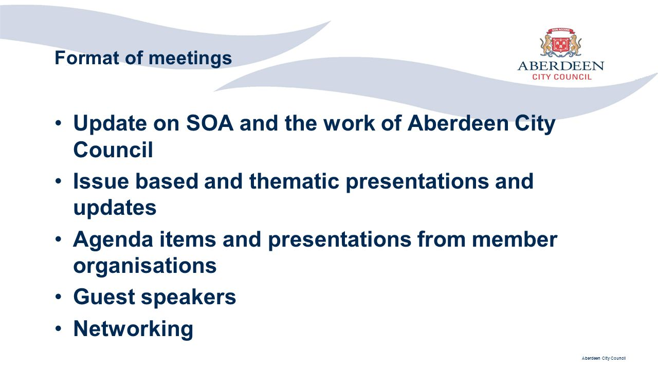 Update on SOA and the work of Aberdeen City Council