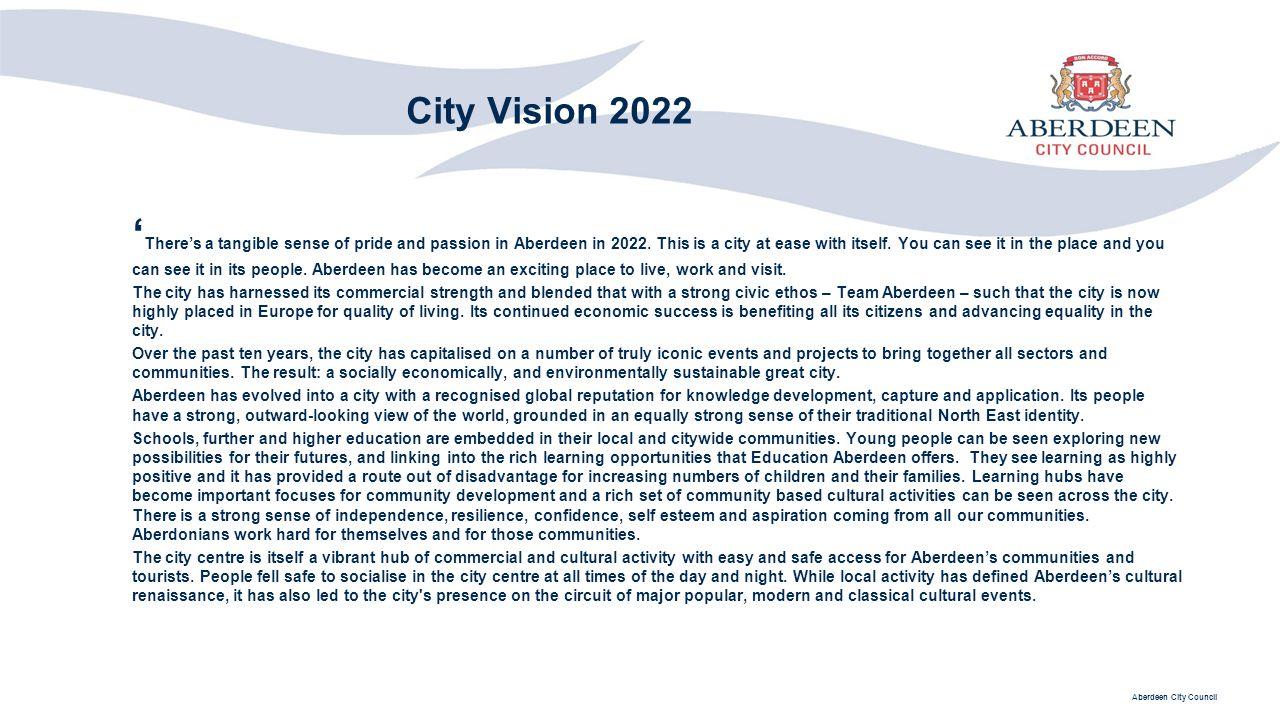 City Vision 2022