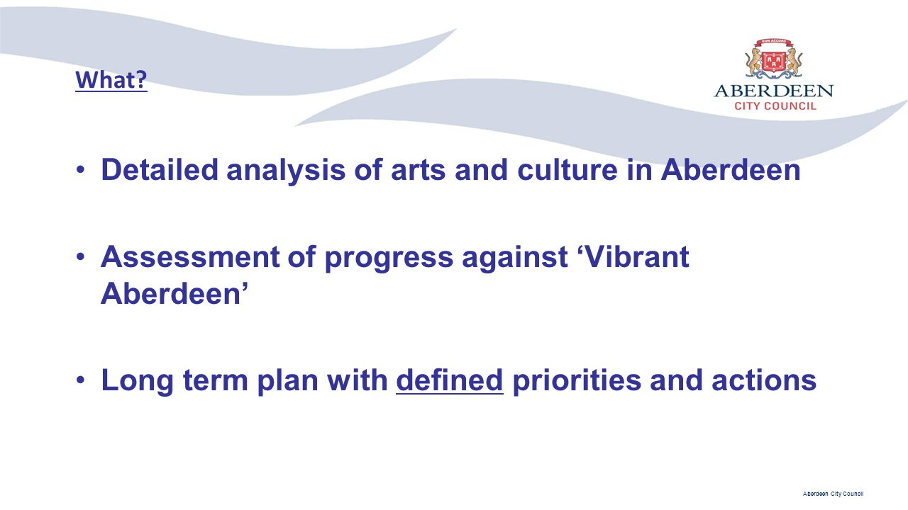 Detailed analysis of arts and culture in Aberdeen