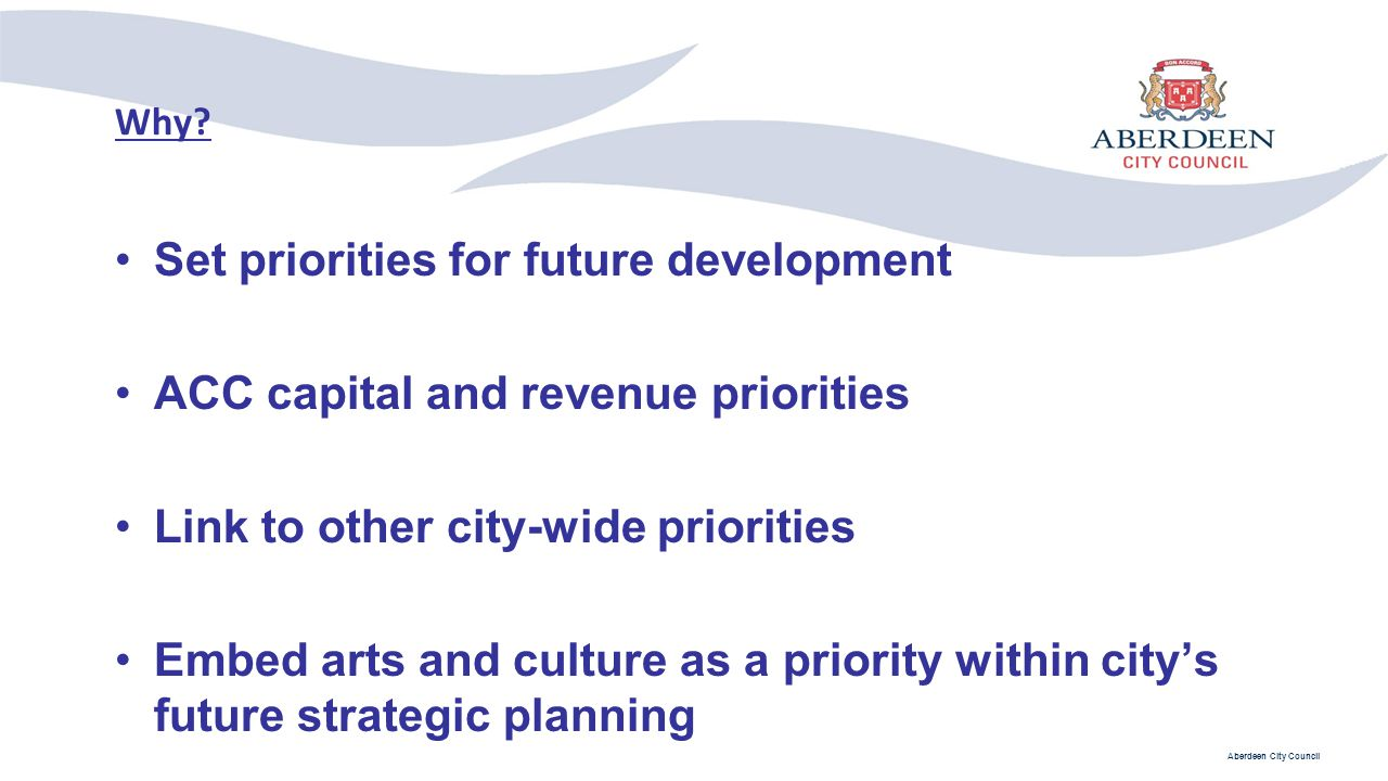 Set priorities for future development
