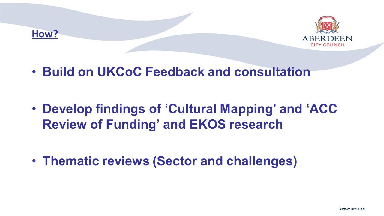 Build on UKCoC Feedback and consultation