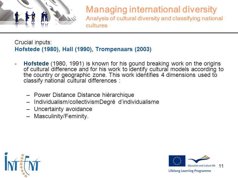 Managing international diversity Analysis of cultural diversity and classifying national cultures