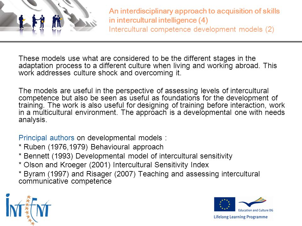 Principal authors on developmental models :