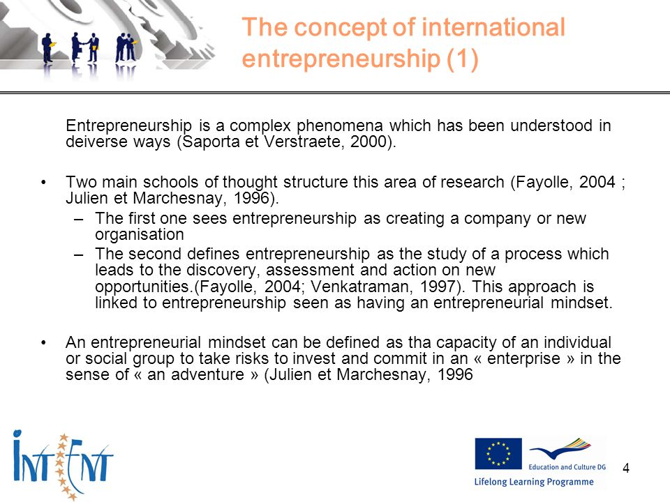 The concept of international entrepreneurship (1)