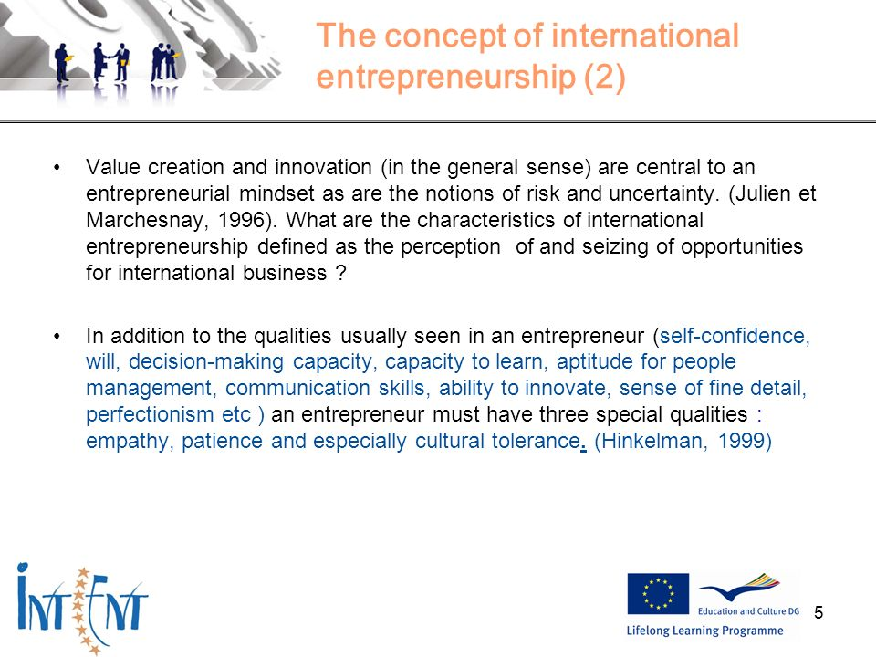 The concept of international entrepreneurship (2)