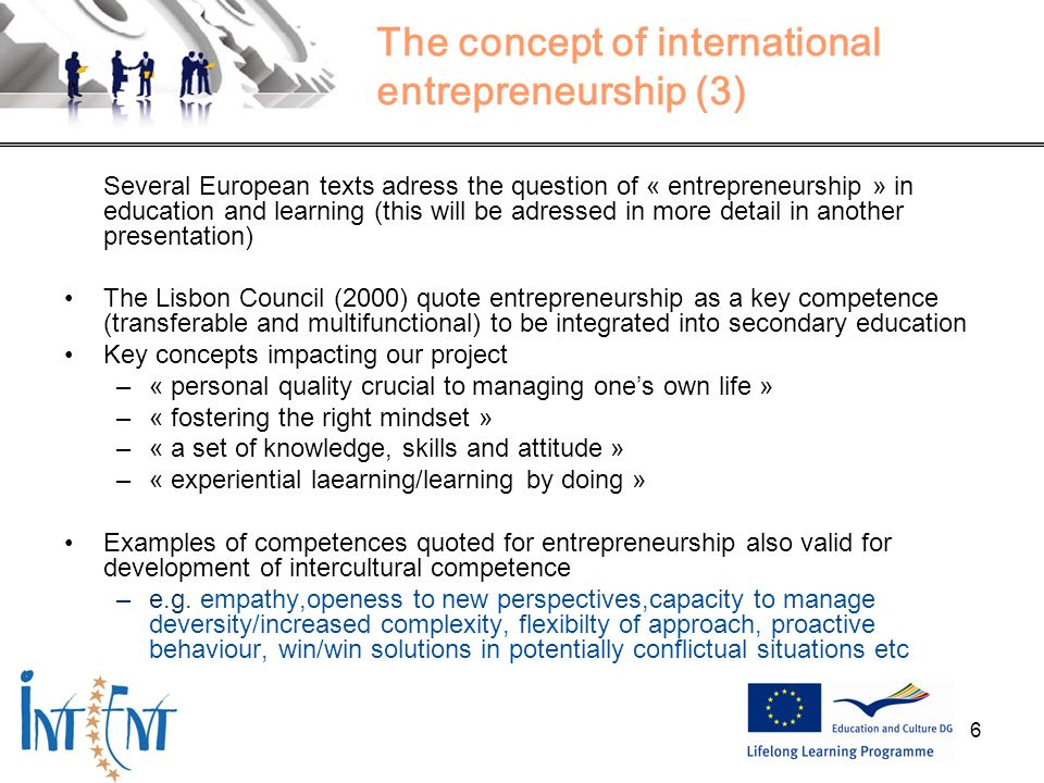 The concept of international entrepreneurship (3)