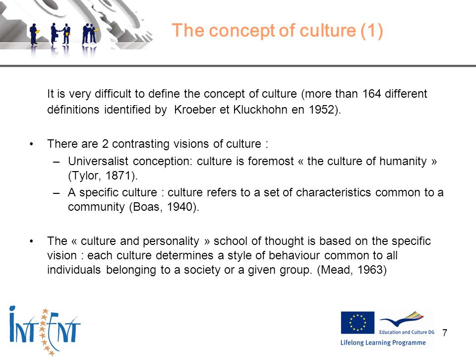 The concept of culture (1)