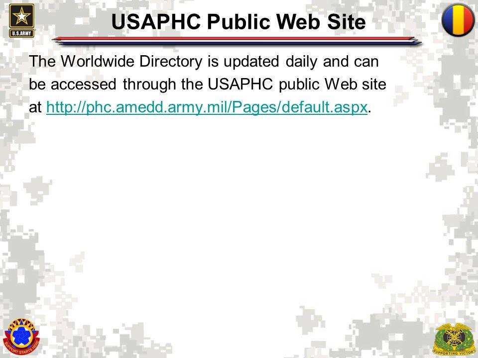 USAPHC Public Web Site