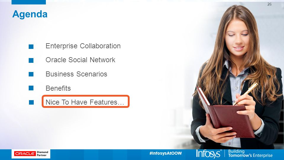 Agenda Enterprise Collaboration Oracle Social Network Business Scenarios Benefits Nice To Have Features…