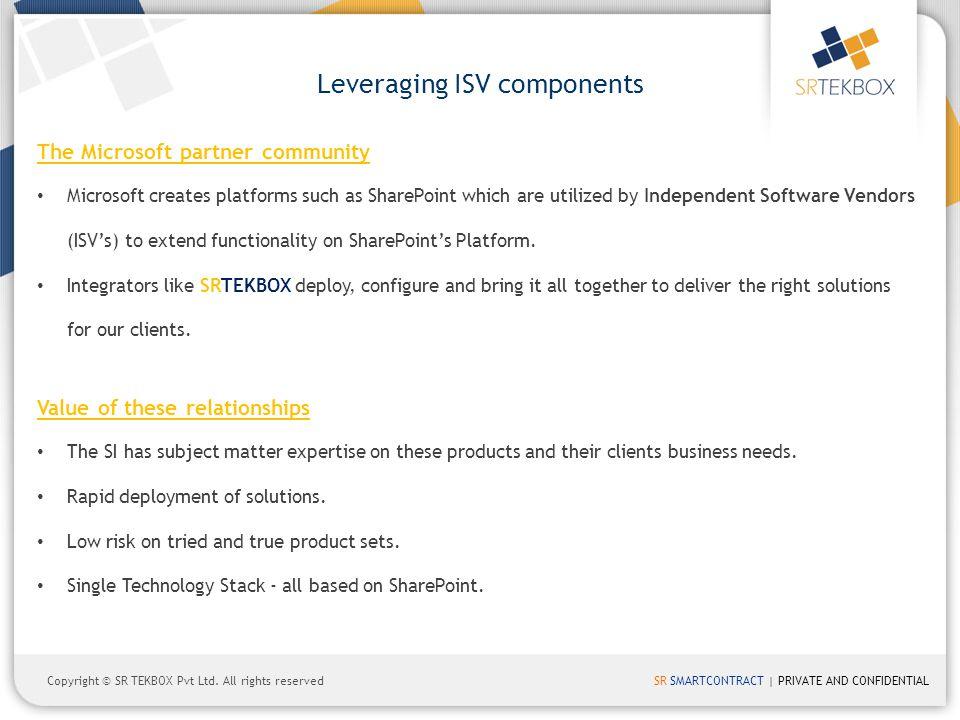 Leveraging ISV components