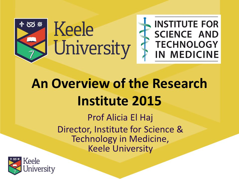 An Overview of the Research Institute 2015