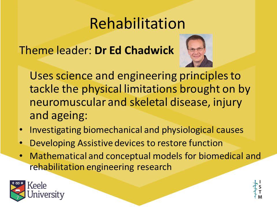 Rehabilitation Theme leader: Dr Ed Chadwick