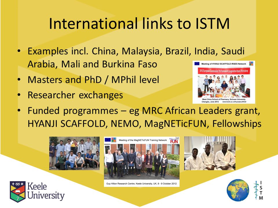 International links to ISTM