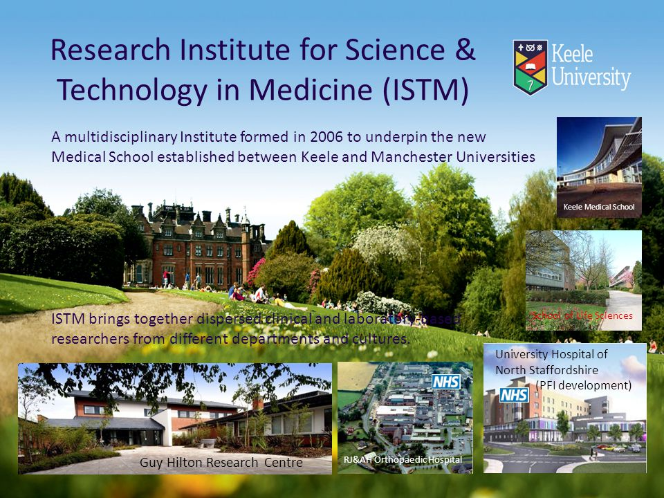 Research Institute for Science & Technology in Medicine (ISTM)