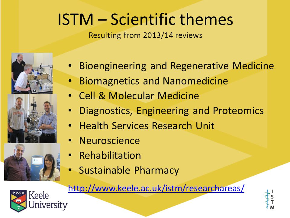 ISTM – Scientific themes Resulting from 2013/14 reviews