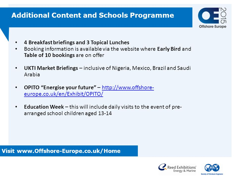 Additional Content and Schools Programme